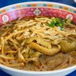 チェンマイの「カオソーイ・イスラム」は鶏より牛のほうがオススメ。
