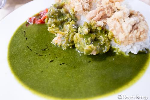 驚愕の緑茶カレー!グリーンカレーではない不気味なグリーンなカレーを食べてみた