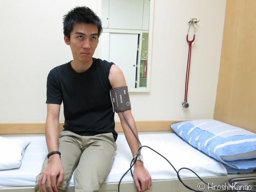 サミディベート病院にて血圧測定