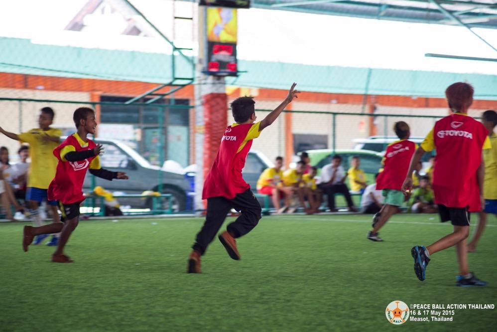 Peace ball action thailand measot tournament 2015  16