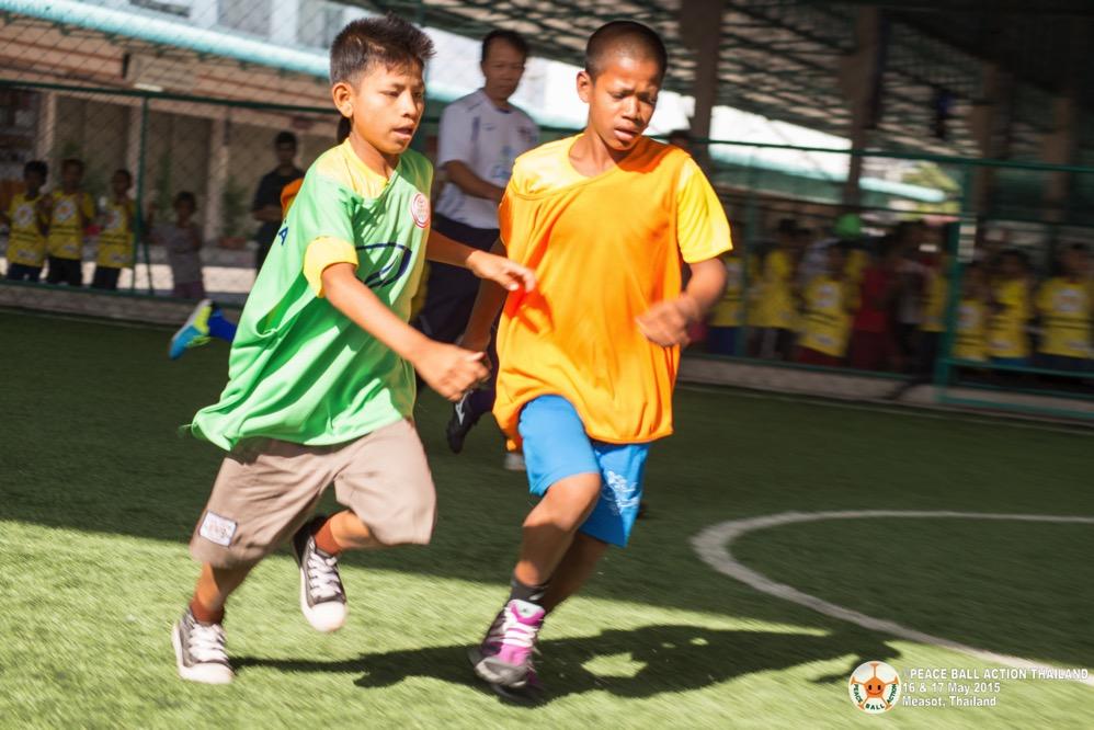 Peace ball action thailand measot tournament 2015  28