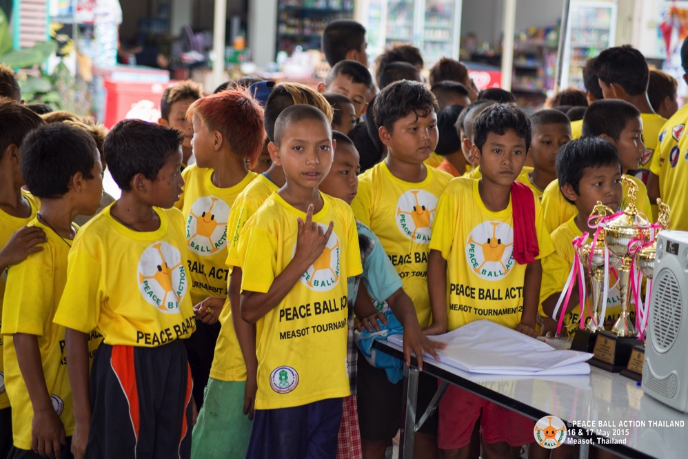 Peace ball action thailand measot tournament 2015  8