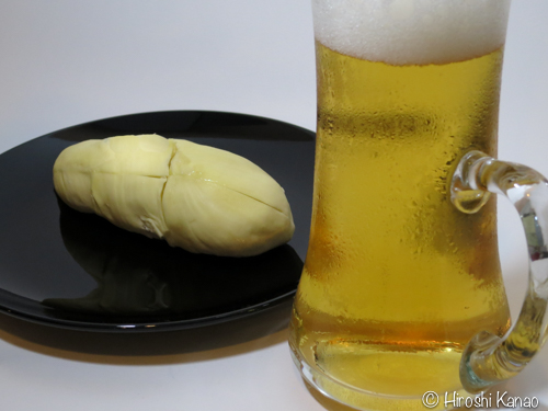 ドリアン ビール実験 1
