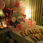 【結婚します】バンコクでプロポーズに成功!部屋を飾り付けてバラの花束をプレゼントしました!