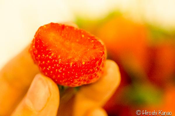 バンコク 路上 量り売り フルーツ いちご タイ産 7