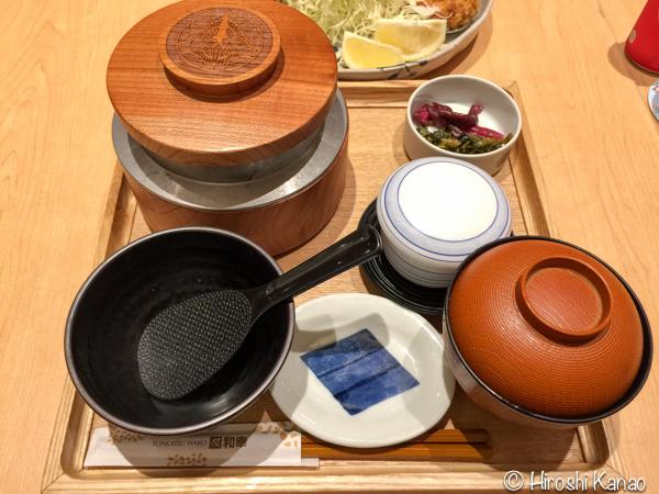 とんかつ 和幸 バンコク ISETAN 6階 釜炊きご飯 おかわり自由 2