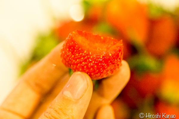 バンコク 路上 量り売り フルーツ いちご タイ産 6