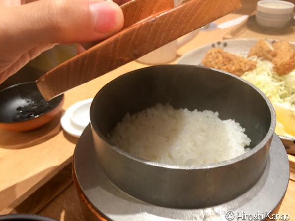 とんかつ 和幸 バンコク ISETAN 6階 釜炊きご飯 おかわり自由 7