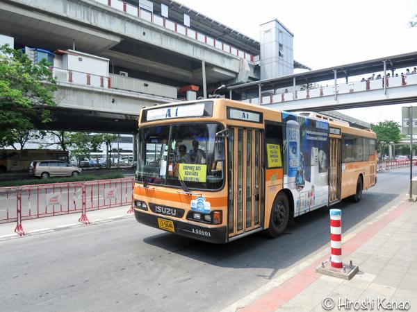 バンコクのモーチットからドンムアン空港まで高速バスで行く方法 4