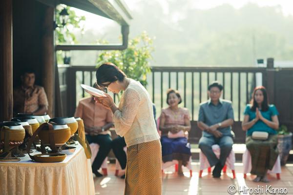 タイ 結婚式 タイ式ウェディング タイ人と結婚 国際結婚 読経4