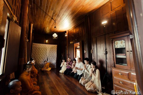 タイ 結婚式 タイ式ウェディング タイ人と結婚 国際結婚 読経1