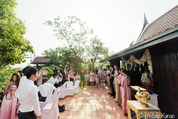 タイ 結婚式 タイ式ウェディング タイ人と結婚 国際結婚 読経12